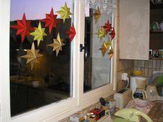 2009 étoiles de noël, découpage et pliage