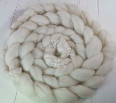 Newborn prop wool braid thick plait basket filler by FeltFur