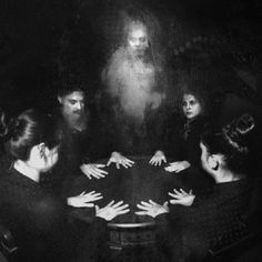 "paintagram: "" Seance spot illustration for ""Mortal Remains"" published by Onyx Path. Spirit Photography, Dark Photography, Macabre Photography, Paranormal, Ghost Photos, Scary Photos, Creepy Art, Creepy Ghost, Ouija"