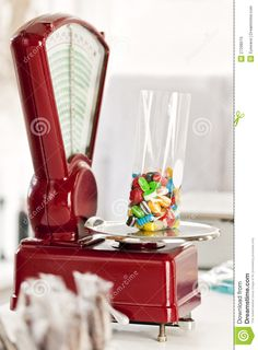 Old-Fashioned Candy Store | Royalty Free Stock Photo: Old-fashioned Scales at Candy Store