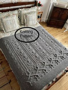 Knitted Dishcloth Patterns Free, Cable Knitting Patterns, Crochet Rug Patterns, Knitted Afghans, Lace Patterns, Knitting Stitches, Knitting Ideas, Blanket Patterns, Free Knitting