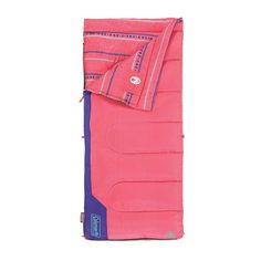 This Pink & Blue Coleman® Kids 50 Sleeping Bag is perfect!