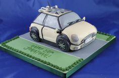 The recipient's beloved car made in cake Handmade Chocolates, Novelty Cakes, Car Makes, Christening, Wedding Cakes, Birthdays, Workshop, Wedding Gown Cakes, Anniversaries