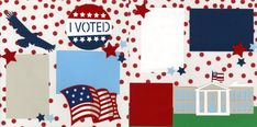 ivoted1120 Scrapbook Pages, Scrapbooking, I Voted, Kids Rugs, Cricut Ideas, Memories, Memoirs, Souvenirs, Kid Friendly Rugs