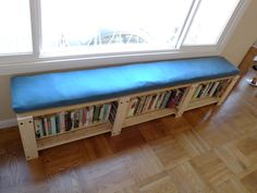 """IKEA Hack: ...how to convert a Gorm shelving unit into a bookshelf bench."""