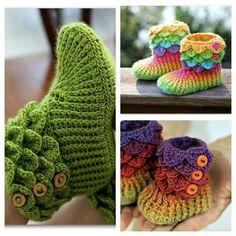 Lankamania: Crocodile Stitch Crochet Boots