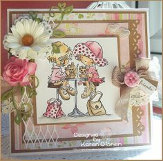 Morning and Happy Sunday Another beautiful day at the moment not a cloud in the sky still fairly cool but I think a good morning for. Valley Girls, Hobby House, Digi Stamps, Lily Of The Valley, Baby Cards, Cute Cards, Happy Sunday, Beautiful Day, Cardmaking