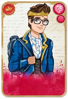Mirror Blogs - Student Cards & Character Bios | Ever After High Royal Dexter Charming, son of King Charming