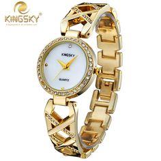 $37.04 (Buy here: https://alitems.com/g/1e8d114494ebda23ff8b16525dc3e8/?i=5&ulp=https%3A%2F%2Fwww.aliexpress.com%2Fitem%2FRelogio-Feminino-Brand-KINGSKY-Ladies-Quartz-Wristwatch-Alloy-Case-Hot-Fashion-Famous-Brands-Watches-Analog-Women%2F32686524303.html ) 2016 Fashion Casual Brand KINGSKY Ladies Quartz-watch Relogio Feminino Dourado De Luxo Marcas Famosas Stainless Steel Wristwatch for just $37.04