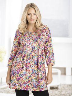 Ulla Popken Sweet Bouquets Knit Tunic