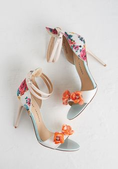 Born to Stun Heel - Solid, Floral, Flower, Special Occasion, Prom, Wedding, Party, Daytime Party, Fairytale, Darling, Spring, Better, Multi, Rhinestones