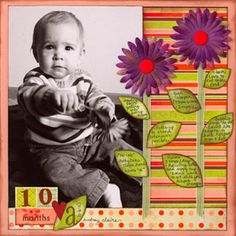 Blooming Baby Page- cute! Recording milestones, etc on the leaves of the flowers