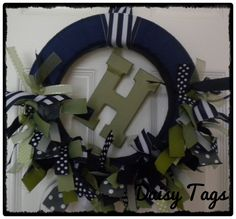 Baby Boy Ribbon Wreath