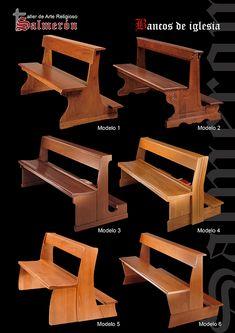 BancosdeIglesia Bed Furniture, Wooden Furniture, Furniture Design, Modern Church, Church Architecture, Church Design, Prayer Room, Church Building, Building Design