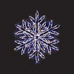 energy best 36in lighted snowflake outdoor christmas decoration