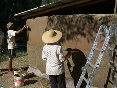 adding a smooth finish with earthen plaster - find a recipe for it at   http://greenbuildingelements.com/2008/11/19/natural-building-101-how-to-make-and-apply-earthen-plaster-finishes/