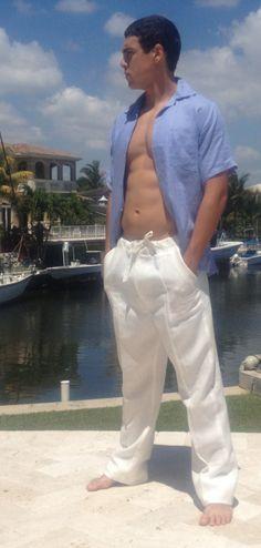 Linen Drawstring Pants for Men