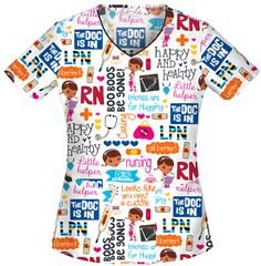 Bought this adorable Doc McStuffin scrub top today!