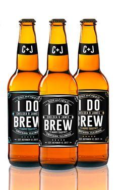 I Do Brew  Beer Labels  Wedding Beer Favors  Custom Beer