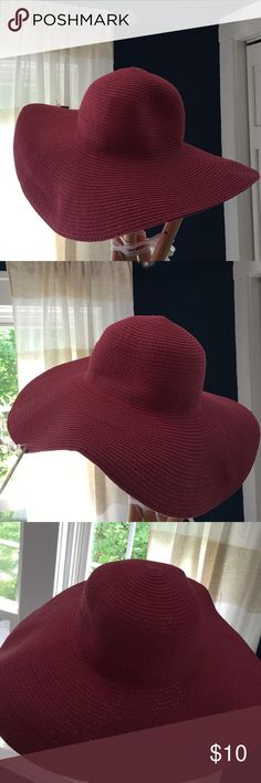 NWT pink floppy Hat Merona hot pink floppy hat. Great for a summer day! Merona Accessories Hats