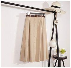 Dawery Autumn Winter Suede Velvet Women Skirt Female Midi Long Elegant Skirt A-Line Pleated Skirt