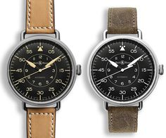 Bell & Ross WWI-92. Aside from the fact that they create impeccable timepieces, the design influence is based on the world of aviation, gauges and dials. This WWI (Wrist Watch 1) is based on the watches worn by military pilots of the 1920's.