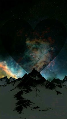 #heart #galaxy #mountains #cute #adorable #love #beautiful #amazing #ideas #wallpapers #iphone