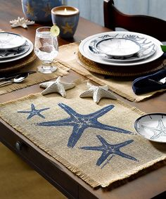 Love this Starfish Place Mat - Set of Four on #zulily! #zulilyfinds