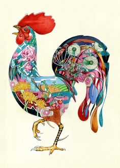 A prismatic, psychotropic vision in watercolor