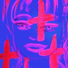 https://flic.kr/p/uGsnme   #Pop #painting #art #girl #modern #blacklight #original #Outsider #juxtapoz #Lowbrow #California #2015 #by #GreggGriffin