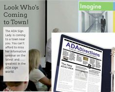 Look Who's Coming to Town! ADA Sign Seminar for Southern California - made with simplebooklet.com