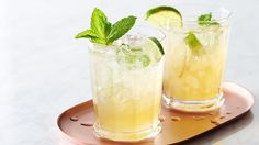 Mint tea, a splash of lime juice and sparkling water dance in your glass to refresh you big time.