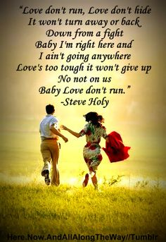 #Love Don't Run #Steve Holy