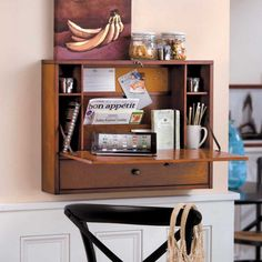 Drop-Down Wall Mount Desk  $150  Not likely the best solution, but if space is an issue, worth considering