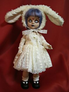LIVING DEAD DOLLS SERIES 1. Eggzorcist  - I've never seen her in a dress; so pretty!