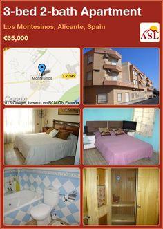 3-bed 2-bath Apartment in Los Montesinos, Alicante, Spain ►€65,000 #PropertyForSaleInSpain