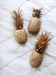 gold pineapples #planetblue