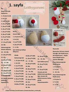AmiGURUMI is very fun, makes children happy, or you still . Crochet Doll Pattern, Crochet Dolls, Crochet Baby, Free Crochet, Crochet Patterns, Amigurumi Patterns, Doll Patterns, Stuffed Animal Patterns, Crochet Animals