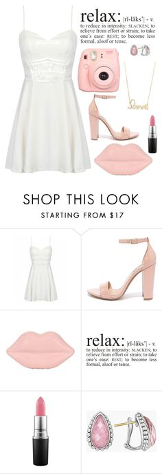 """Untitled #231"" by jmatz on Polyvore featuring Steve Madden, Lulu Guinness, Fuji, MAC Cosmetics, Lagos and Sydney Evan"