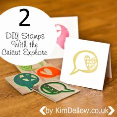 Kim Dellow: DIY Stamps Tutorial With The Cricut Explore - good step by step tutorial, you probably can adapt with other cutters.