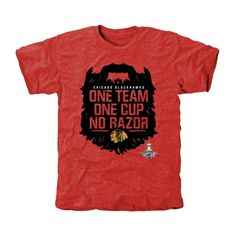 Men's Chicago Blackhawks Burgundy 2015 Stanley Cup Champions No Razor Tri-Blend T-Shirt
