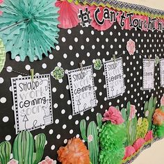 Cactus is all the trend right now Our team had a blast creating this bulletin board for @educationbyorientaltrading! All of these products can be found on OrientalTrading.com!