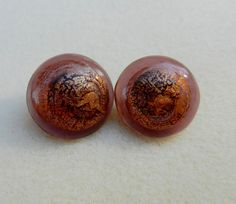SALE Hand Made Art Glass Buttons In by HammeredEdgeStudio on Etsy