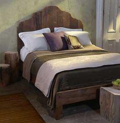 Love it!  antique pine bed