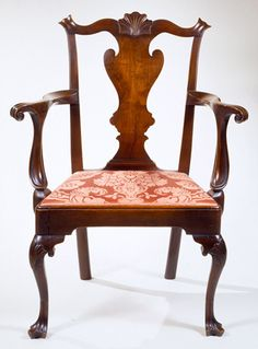 Queen Anne open armchair, Philadelphia, Pennsylvania, circa 1760