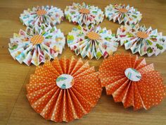 PAPER ROSETTES  3.5 by PinkdotsCreate on Etsy, $9.99