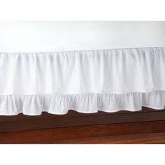 Little Love Ruffled White Crib Skirt/Dust Ruffle - Modern Baby Girl Curtains, Baby Girl Bedding, Girl Nursery, Crib Skirt Tutorial, White Crib Skirt, Girl Cribs, Dust Ruffle, Crib Skirts, Bed Sizes