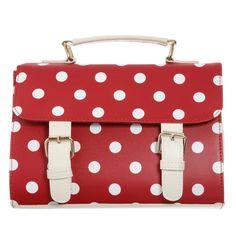 Polka Dots Messenger Crossbody Bag