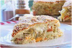 Torta Salgada com sobras de arroz - O melhor restaurante do mundo é a nossa Casa
