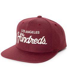 bfd1be884d0 The Hundreds Forever Team Burgundy Snapback Hat.